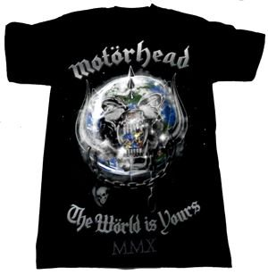 MOTORHEAD「THE WORLD IS YOURS」Tシャツ<img class='new_mark_img2' src='//img.shop-pro.jp/img/new/icons11.gif' style='border:none;display:inline;margin:0px;padding:0px;width:auto;' />