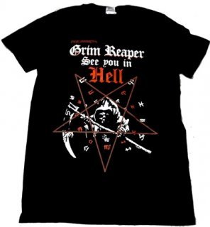 GRIM REAPER「SEE YOU IN HELL」Tシャツ<img class='new_mark_img2' src='//img.shop-pro.jp/img/new/icons52.gif' style='border:none;display:inline;margin:0px;padding:0px;width:auto;' />