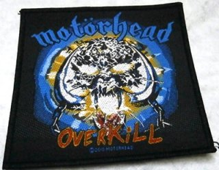 MOTORHEAD「OVERKILL」布パッチ<img class='new_mark_img2' src='//img.shop-pro.jp/img/new/icons11.gif' style='border:none;display:inline;margin:0px;padding:0px;width:auto;' />