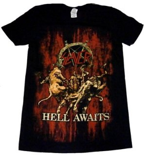 SLAYER「HELL AWAITS」Tシャツ<img class='new_mark_img2' src='//img.shop-pro.jp/img/new/icons11.gif' style='border:none;display:inline;margin:0px;padding:0px;width:auto;' />