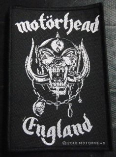 MOTORHEAD「ENGLAND」刺&#32353;パッチ<img class='new_mark_img2' src='//img.shop-pro.jp/img/new/icons52.gif' style='border:none;display:inline;margin:0px;padding:0px;width:auto;' />