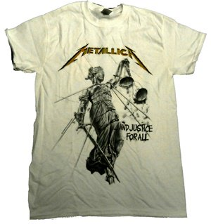 METALLICA「AND JUSTICE WHITE」Tシャツ<img class='new_mark_img2' src='//img.shop-pro.jp/img/new/icons52.gif' style='border:none;display:inline;margin:0px;padding:0px;width:auto;' />