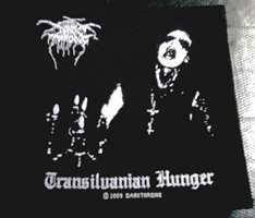 DARKTHRONE「TRANSILVANIAN HUNGER」布刺しゅうパッチ