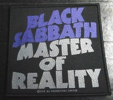 BLACK SABBATH「MASTER OF REALITY」布刺しゅうパッチ