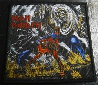 IRON MAIDEN「NUMBER OF THE BEAST」布刺しゅうパッチ