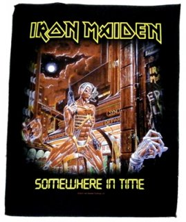 IRON MAIDEN「SOMEWHERE IN TIME」布バックパッチ