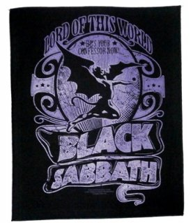 BLACK SABBATH「LORD OF THIS WORLD」布バックパッチ