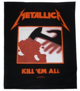 METALLICA「KILL 'EM ALL」布バックパッチ<img class='new_mark_img2' src='//img.shop-pro.jp/img/new/icons52.gif' style='border:none;display:inline;margin:0px;padding:0px;width:auto;' />