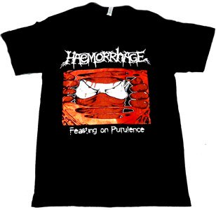 HAEMORRHAGE「FEASTING」Tシャツ<img class='new_mark_img2' src='//img.shop-pro.jp/img/new/icons11.gif' style='border:none;display:inline;margin:0px;padding:0px;width:auto;' />