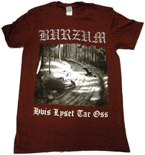 BURZUM「HVIS LYSET-MAROON」Tシャツ<img class='new_mark_img2' src='//img.shop-pro.jp/img/new/icons11.gif' style='border:none;display:inline;margin:0px;padding:0px;width:auto;' />