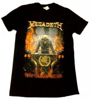 MEGADETH「NEW WORLD ORDER」Tシャツ<img class='new_mark_img2' src='//img.shop-pro.jp/img/new/icons11.gif' style='border:none;display:inline;margin:0px;padding:0px;width:auto;' />