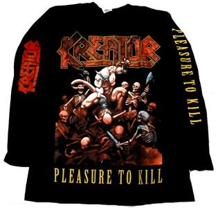 KREATOR「PLEASURE TO KILL」ロングスリーブシャツ<img class='new_mark_img2' src='//img.shop-pro.jp/img/new/icons11.gif' style='border:none;display:inline;margin:0px;padding:0px;width:auto;' />