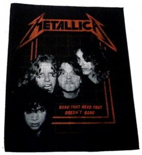 METALLICA「BANG THAT HEAD」布バックパッチ<img class='new_mark_img2' src='//img.shop-pro.jp/img/new/icons11.gif' style='border:none;display:inline;margin:0px;padding:0px;width:auto;' />