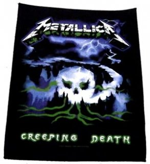 METALLICA「CREEPING DEATH」布バックパッチ<img class='new_mark_img2' src='//img.shop-pro.jp/img/new/icons11.gif' style='border:none;display:inline;margin:0px;padding:0px;width:auto;' />