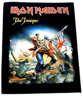 IRON MAIDEN「THE TROOPER」布バックパッチ<img class='new_mark_img2' src='//img.shop-pro.jp/img/new/icons11.gif' style='border:none;display:inline;margin:0px;padding:0px;width:auto;' />