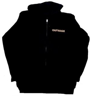 OUTRAGE「BLACK CLOUDS」ジップパーカー【限定入荷】<img class='new_mark_img2' src='//img.shop-pro.jp/img/new/icons11.gif' style='border:none;display:inline;margin:0px;padding:0px;width:auto;' />