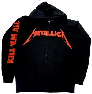 METALLICA「KILL 'EM ALL」ジップパーカー<img class='new_mark_img2' src='//img.shop-pro.jp/img/new/icons11.gif' style='border:none;display:inline;margin:0px;padding:0px;width:auto;' />