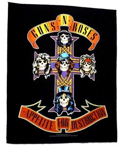 GUNS&ROSES「APPETITE FOR DESTRUCTION」布バックパッチ<img class='new_mark_img2' src='//img.shop-pro.jp/img/new/icons11.gif' style='border:none;display:inline;margin:0px;padding:0px;width:auto;' />