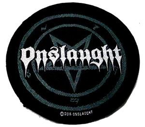 ONSLAUGHT「PENTAGRAM LOGO」布刺しゅうパッチ<img class='new_mark_img2' src='//img.shop-pro.jp/img/new/icons11.gif' style='border:none;display:inline;margin:0px;padding:0px;width:auto;' />