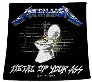METALLICA「METAL UP YOUR ASS」布刺しゅうパッチ<img class='new_mark_img2' src='//img.shop-pro.jp/img/new/icons11.gif' style='border:none;display:inline;margin:0px;padding:0px;width:auto;' />