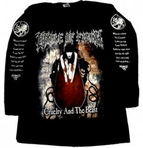 Cradle of Filth Cruelty and The Beast Long Sleeve Shirt