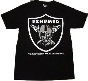 EXHUMED「RAIDERS」Tシャツ<img class='new_mark_img2' src='//img.shop-pro.jp/img/new/icons52.gif' style='border:none;display:inline;margin:0px;padding:0px;width:auto;' />