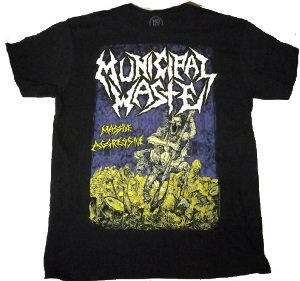 MUNICIPAL WASTE「MASSIVE AGRESSIVE BLACK」Tシャツ<img class='new_mark_img2' src='//img.shop-pro.jp/img/new/icons52.gif' style='border:none;display:inline;margin:0px;padding:0px;width:auto;' />