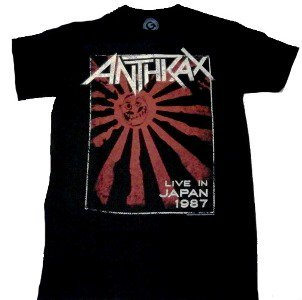 ANTHRAX「LIVE IN JAPAN 1987」Tシャツ<img class='new_mark_img2' src='//img.shop-pro.jp/img/new/icons52.gif' style='border:none;display:inline;margin:0px;padding:0px;width:auto;' />