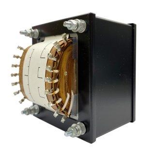 SR・HPB付 伏型電源トランス<br />350V-320V-290V-0-290V-320V-350V 220mA/6.3V 3A×2/6.3V-5V-6.3V 3A [P-U001]
