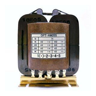 2K-2.5K-3.5K-5KΩ:4Ω-8Ω-16Ω 20Wシングル用出力トランス[OPT-AM20S]