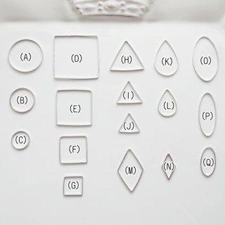 [1334]薄いシンプルな空枠(ロジウム)