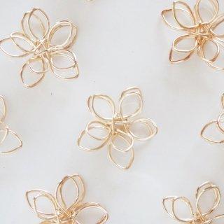 立体お花のワイヤーパーツ(2個)