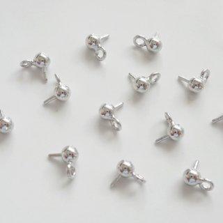 [0512]3mm玉ピン付金具・ロジウム(2個)