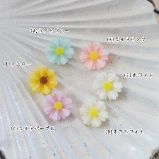 [0500]お花のプチカボション(各3個)