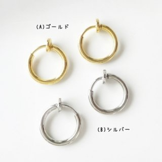 [0061]カンなし11mmフープイヤリング(1ペア2個セット)