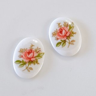 flower cabochon/18x13mm(各1個)
