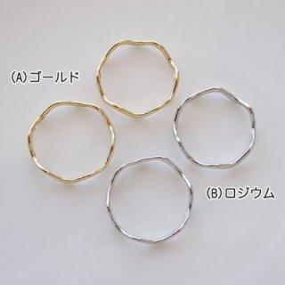 波型メタルリングパーツ・19mm(各2個)