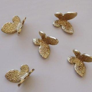 蝶のメタルモチーフパーツ(5個)