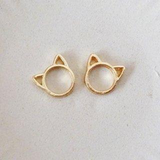 猫の小さな空枠チャーム(2個)