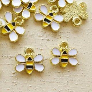 小さな可愛い蜂のチャーム(2個)
