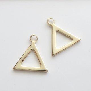 [0559]☆国内メッキ☆三角なシンプルチャーム(1個)