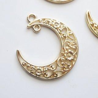 [0615]和風透かし月のチャーム(1個または5個)