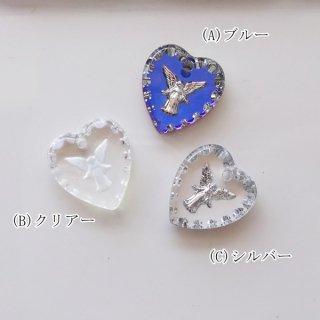 ☆高品質☆ガラス製ヴィンテージペンダントトップ・Angel(S/1個)