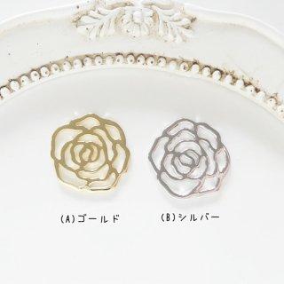 [0498]大人おしゃれな透かしローズチャーム(1個)