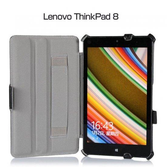 レノボ ThinkPad 8 ケース レザー 手帳 横開き Lenovo ThinkPad 8 カバー 軽量/薄 スタンドケース/スタンドカバーTHINKPAD8-05-L407…
