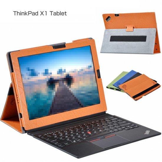ThinkPad X1 Tablet ケース 手帳型 方手持ちハンドル スタンド変形 Lenovo レノボ シンクパッド X1 手帳型レザーケースthinkx1-01-l702…