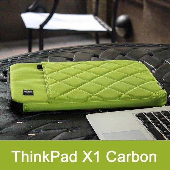 ThinkPad X1 Carbon ケース レザー ポーチ カバン型 Lenovo ThinkPad X1対応ケース タブレットケース/タブレットカバー CARBON-O38-T702…