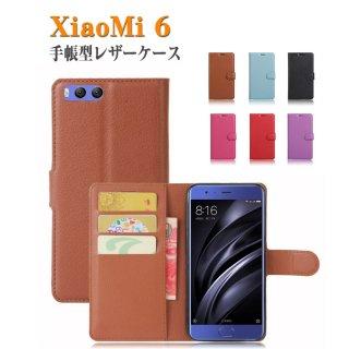 小米 Xiaomi 6 ケース 手帳型 レザー シンプル おしゃれ おすすめ おしゃれ アンドロイド スマホケースMI6-Y59【送料無料】