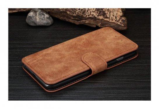 アイフォン6プラス 手帳 ケース レザー カード収納 ウォレット 財布型ケース アイホン6プラス カバー スエード調 手帳型レザーケース 上質でおしゃれな IPHONE 6PLUS ケース