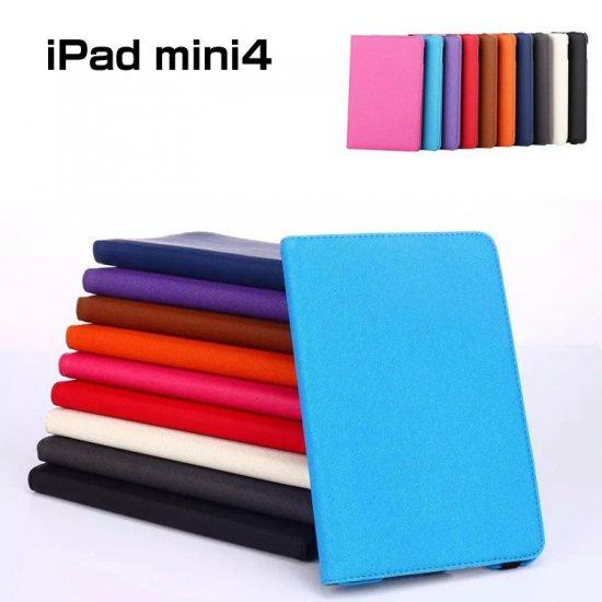 アイパッドミニ4 ケース 手帳型 デニム 360度回転 スリム 薄型 シンプル おしゃれ iPad mini4 手帳型デニムケースmini4-05-l509…